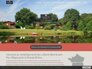 Camping Le Deffay dans les Pays de la Loire