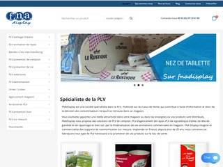 Fnadisplay fabricant d'outils PLV pour théâtraliser vos rayons