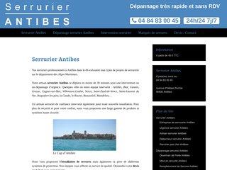 Serrurier Riviera à Antibes