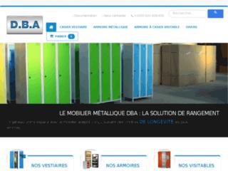 Mobilier métallique : vestiaires armoires