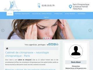 Votre cabinet de chiropraxie à  Paris