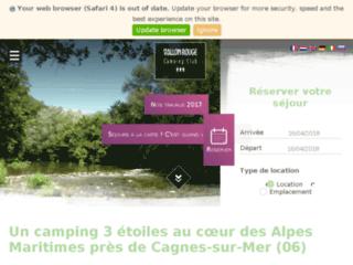Camping du Vallon Rouge dans les Alpes Maritimes