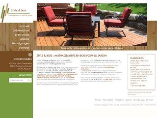 Artisan menuisier, fabrication mobilier jardin Lille (59)