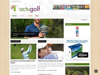 actualités golf
