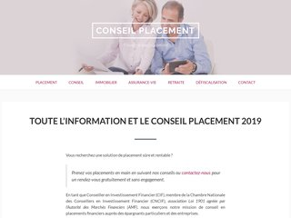 Le conseil placement par un expert