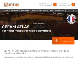 CEFAM Atlas, fabriquant d'appareils de levage industriel