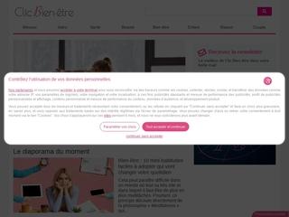 Clic bien être, webmagazine consacrée au bien-être et à la forme
