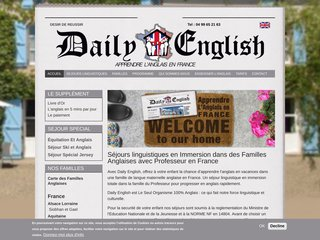 Séjour linguistique anglais en France avec Daily English