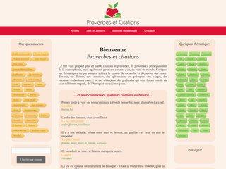 Proverbes et citations: le portail de référence