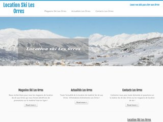 Réservez vos skis sur internet pour les orres