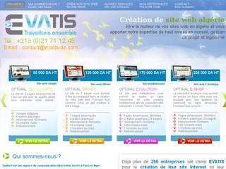 Agence de création de site Internet : Evatis