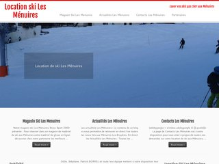 La station des menuires dispose de son site web
