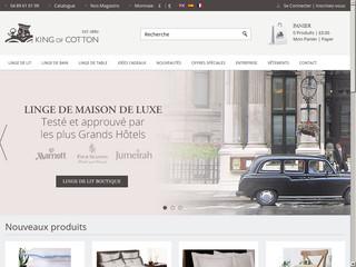 Vente de linge de maison de luxe – King of Cotton