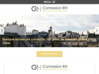 Connexion RH - cabinet de recrutement spécialisé dans le secteur bancaire à Paris