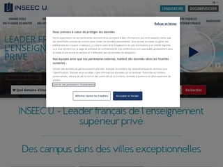 L'INSEEC, enseignement privé supérieur