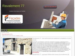Ravalement façade 77