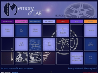 Memorylab laboratoire video et photo sur Bordeaux