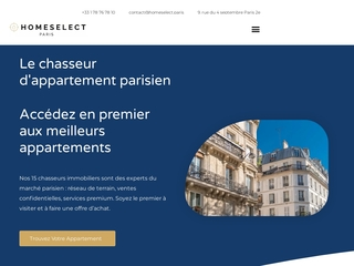 Homeselect : Chasseur immobilier sur Paris