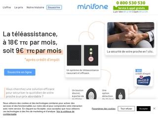 Minifone service de téléassistance pour personnes âgées