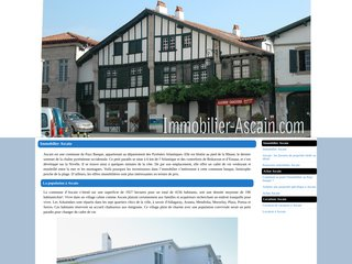 Agence immobiliere ascain