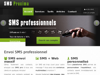 SMS Proxima, plateforme SMS pro