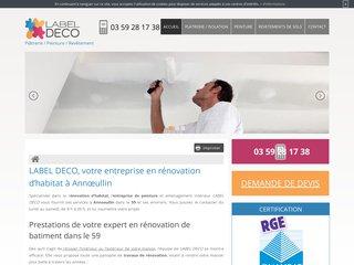 LABEL DECO, entreprise de rénovation et aménagement intérieur à Lille