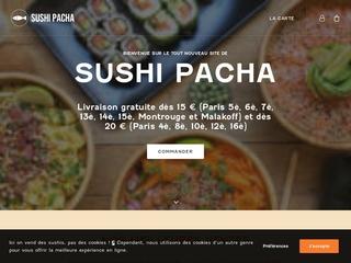 Livraison sushi à domicile - Sushi Pacha