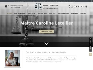 Maître Caroline Letellier, avocat au barreau de Lille