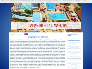 Camping ouvert année