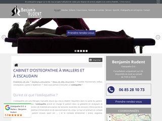 Cabinet d'ostéopathe Benjamin Rudent D.O à Wallers