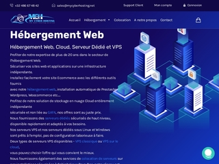 My Cyber Hosting, hébergement web qualitatif