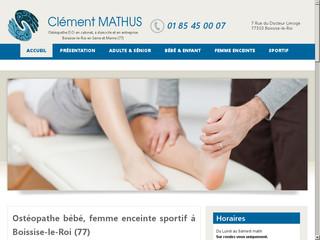 Clément Mathus : Ostéopathe pour bébé à Boissise-le-Roi (77)