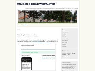 Les outils google webmaster