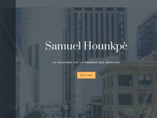 Samuel Hounkpe le webmaster