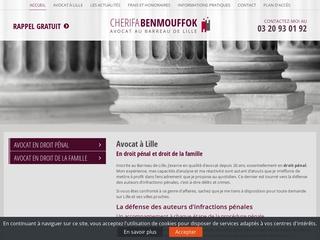 Avocat droit pénal et de la famille à Lille - Maître Cherifa Benmouffok