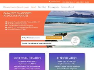 garantie financière tourisme réceptif