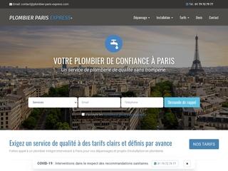 Plombier Paris Express : les meilleurs plombiers de Paris