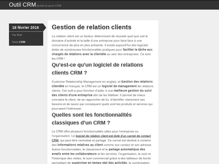 Outil CRM