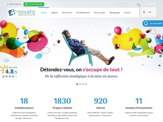 Novatis, votre agence de conception de sites internet sur tunisie