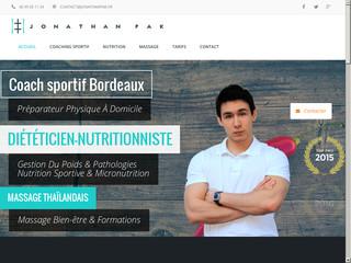 Coach sportif, diététicien-nutritionniste, massage | Jonathan