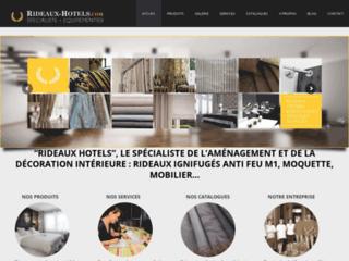 Rideaux-Hôtels spécialiste rideaux et voilages non feu M1