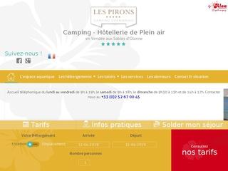 Les Pirons : camping 4 étoiles en Vendée