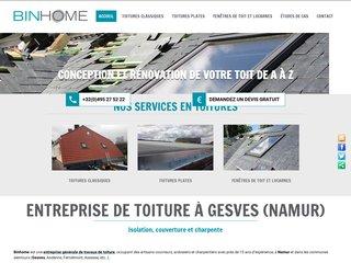 Entreprise de toitures Binhome à Namur