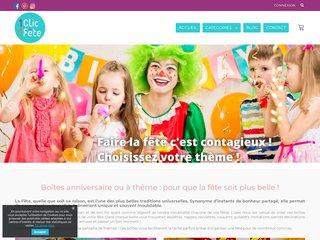 Boîtes anniversaires - kit fêtes - boîtes célébration - 1 clic 1 fête