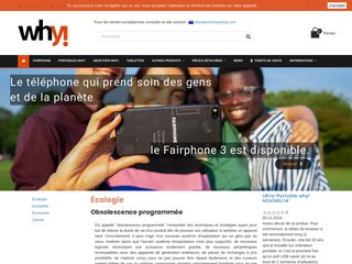Why Open Computing: ordinateurs et smartphones réparables