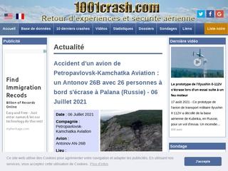 Accidents aériens - 1001 crash