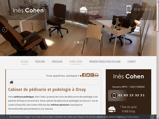 Cabinet de  podologie à Orsay