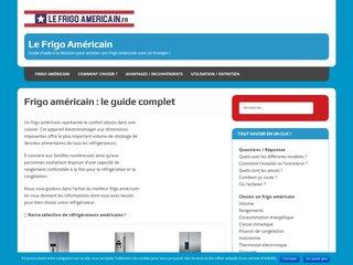Guide sur le réfrigérateur américain