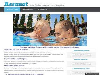 Cours de natation - Maitre nageur - Apprendre à nager - Resanat