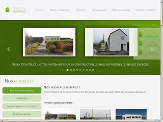Bloc coffrant et maison passive : Green Construct